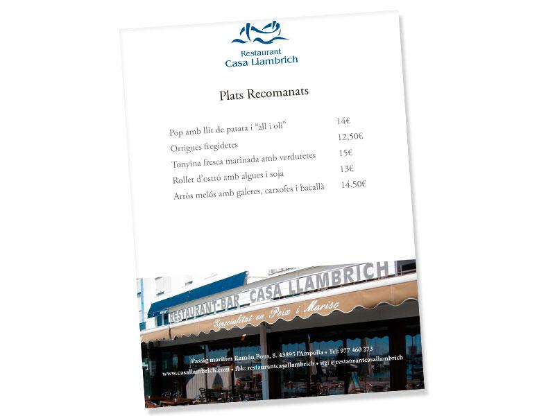 Plats recomanats de Casa Llambrich